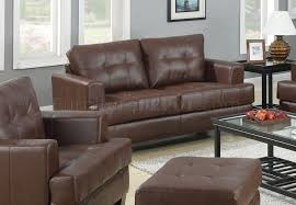 Coaster Leather Sofa Sofa Loveseat Set Brown Leatherette 504071 By Coaster