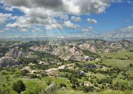 North Dakota mountains images Summer mountain landscape of painted canyon in north dakota usa jpg