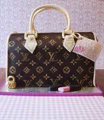 louis vuitton purse shaped cake with fondant makeup purses