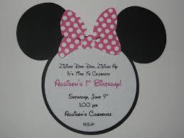 invitations minnie mouse first birthday invitations