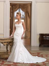 Silk Wedding Gown With Embellished Fishtail Detail Bridal