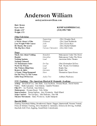 actor resume sample free acting resume samples and examples ace