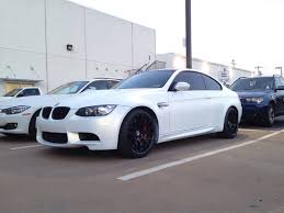 flat white color we did a customers m3 for the 2nd time balloon white with gold