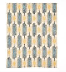 West Elm Rug by New West Elm Teardrop Ikat Kilim Rug 8 X 10 Blue Lagoon Nwt Free