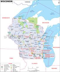 Illinois Road Map by Wisconsin Road Map