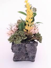 artificial planter floral arrangement artificial flowers