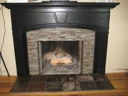 cool glass tile fireplace designs images best idea home design