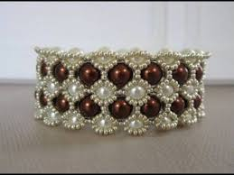 pearl bracelet tutorials images Tutorial retro beaded bracelet chocolate jpg