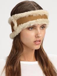 ugg headband sale ugg shearling headband in brown lyst