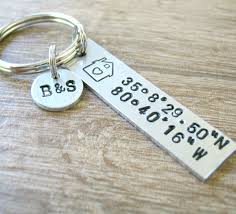 our first home keychain house housewarming gift gps