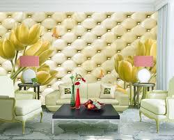 livingroom cafe tulips on soft roll wallpaper 3d wall mural rolls