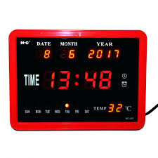 ivation clock led atomic wall clock ivation large display electric led wall