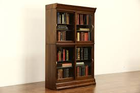 Oak Bookcases With Doors by Sold Danner Signed Stacking Oak 1900 Antique Bookcase Sliding