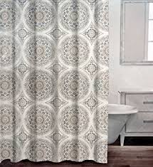 Charcoal Shower Curtain Caro Fabric Shower Curtain Circle Medallions