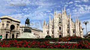 uhd ultra hd 4k video stock footage milan cathedral italy milano