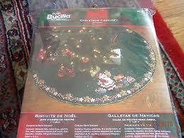 bucilla cookies felt tree skirt kit santa