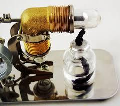 amazon com sunnytech mini air stirling engine motor model