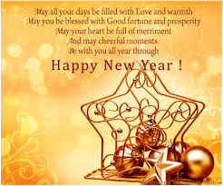 formal new year card