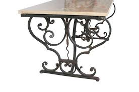 Iron Table Base Cast Iron Table With A Granite Top For Sale At 1stdibs