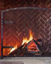 hammered fireplace screen u0026 tool balsam hill