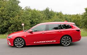 opel red upcoming opel insignia gsi looks good in sports tourer form
