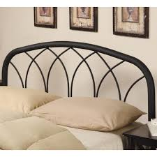 coaster iron beds and headboards full queen modern black metal