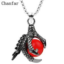 red necklace pendant images Buy chanfar classic dragon claw stainless steel jpg