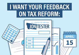 tester launches portal to hear from montanans on tax reform debt