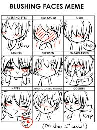 blushing faces meme lily by leaveittofate on deviantart