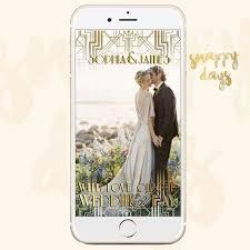 snapchat geofilter gatsby art deco 1920 u0027s wedding filter vintage
