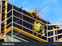 Rebar Worker Trelleborg Sweden April 12 2016 Construction Stock Photo 409393195