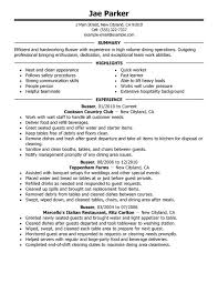 Steward Resume Sample by Unforgettable Busser Resume Examples To Stand Out Myperfectresume