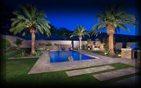 astonishing desert landscaping plants with pool for modern style