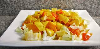 tossed green salad with fruit and honey mustard dressing youtube