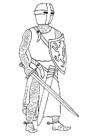 coloring page knights coloring pages 4