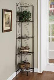 4 tier corner shelf metal storage pictures plants ornaments
