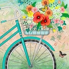 Ballard Design Art Bicycle Bouqet Digital Art Maps And Globes Pinterest Digital
