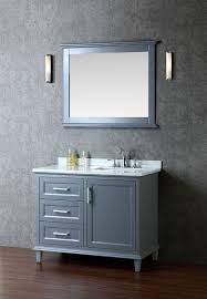 42 Inch Bathroom Vanities by Ariel Nantucket Single 42 Inch Transitional Bathroom Vanity Set