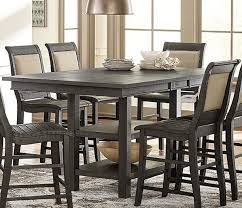 progressive furniture willow counter height dining table willow distressed dark gray rectangular counter height dining table