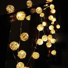 warm white string fairy lights 5m 20led warm white rattan ball led string fairy lights holiday