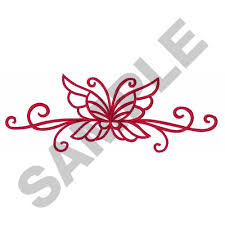 butterfly scroll large embroidery designs machine