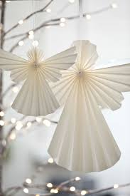Chocolate Angels Christmas Tree Decorations by 2013 Tindra Origami Hanging Paper Angels Xmas Papaya
