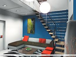 Living Room With Stairs by Interior Exterior Plan Dark Blue Living Room With Stair Case