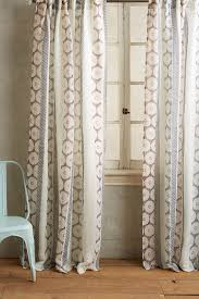 Red Blue Curtains Falling Circles Curtain Anthropologie