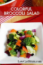cucumber broccoli salad with added color low carb yum