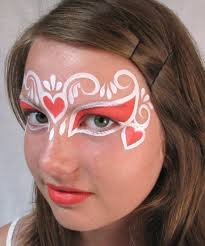 face painting designs for kids painted up as princesses and