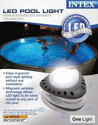 how to change an inground pool light intex above ground led magnetic swimming pool light 28687e