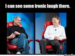 Bill Gates And Steve Jobs Meme - steve jobs vs bill gates by andy101 meme center