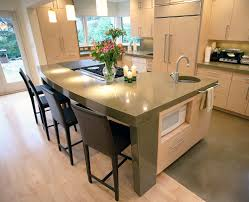 cool silver color kitchen concrete countertops with beige color