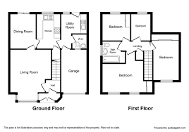 Floorplan Of A House Estate Agents Nottingham Nottinghamshire Letting Agents